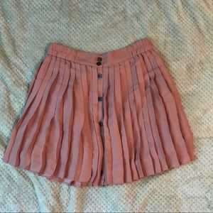 BCBGeneration pink pleated skirt